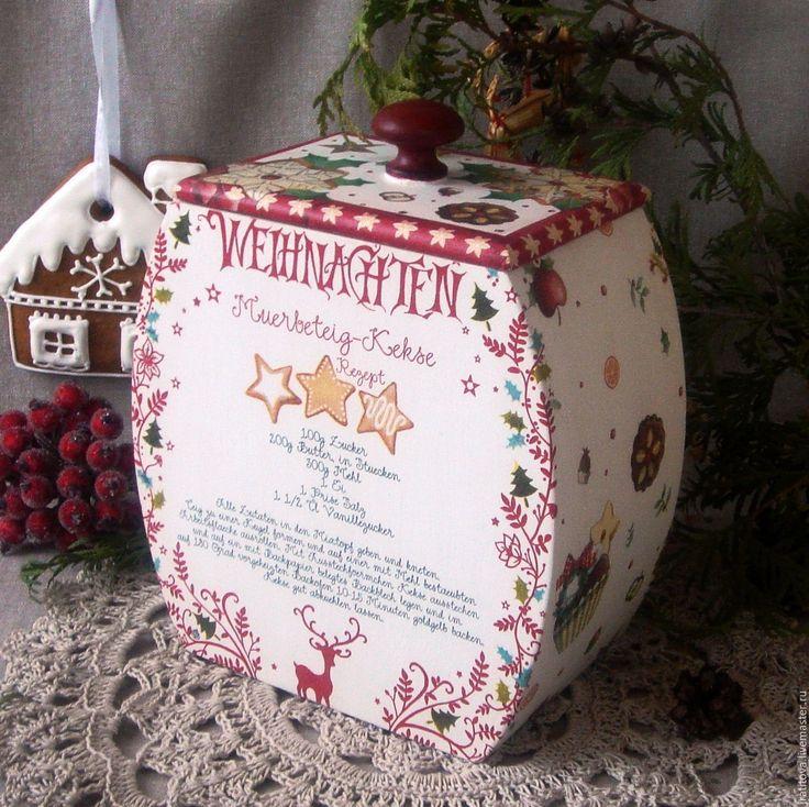 """Купить Короб """"Рождественские сладости"""" - короб для хранения, коробочка для подарка, коробка для мелочей, короб для сладостей"""