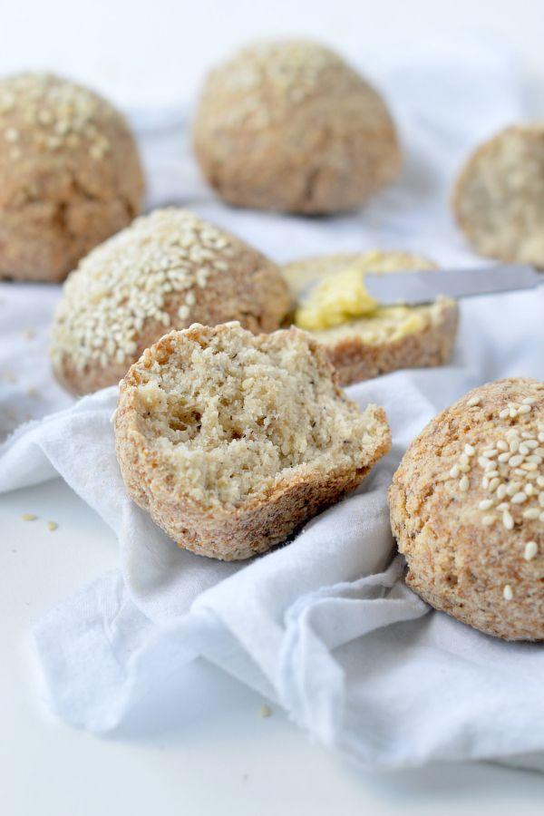 Keto bread rolls NO EGGS ! 100% Vegan + Dairy free + Low