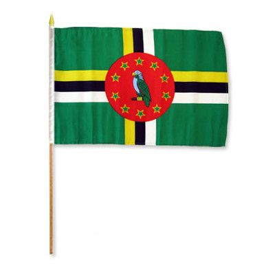FlagsImporter Dominica Traditional Flag and Flagpole Set