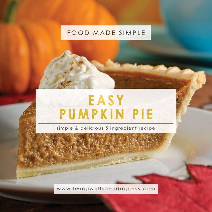 Easy 5 Ingredient Pumpkin Pie   Easy Pumpkin Pie Recipe   Homemade Pumpkin Pie   Pie Recipes   Pumpkin Pie   Simple Pumpkin Pie Recipe   Thanksgiving Pie   Pumpkin Pie from Scratch