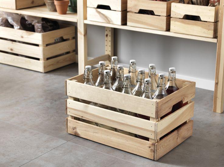 SKOGSTA bak   #IKEA #IKEAnl #opbergen #opruimen #krat #hout