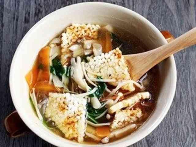 残り野菜de中華おこげスープの画像