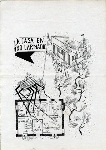 «Дом в буфете» для Saffa - Джио Понти