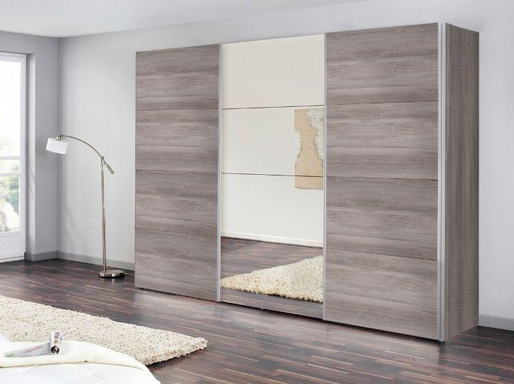 Four you sliding wardrobe (Silver Oak & Mirror) -