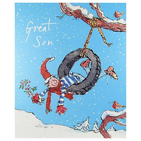 Buy Woodmansterne Little Boy Swinging In A Tyre Christmas Card Online at johnlewis.com