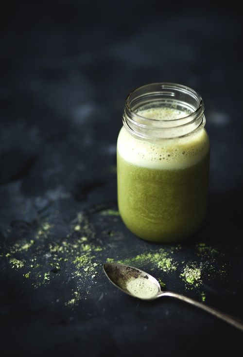 Boisson au thé vert, banane et érable