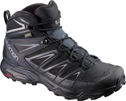Salomon Men's X Ultra 3 Mid GTX Hiking Boots Black/India Ink 10.5
