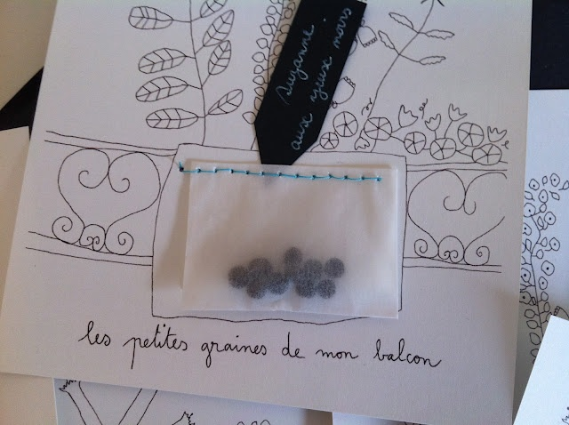 gift: printable card gifting seeds from own garden