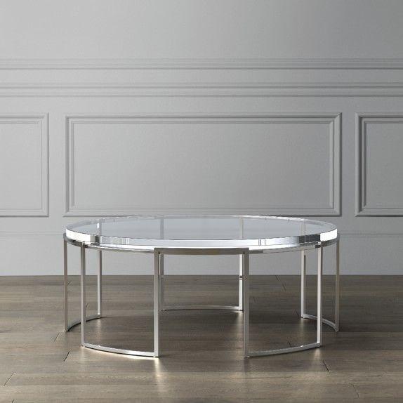 Lago Acrylic Coffee Table End Tables Williams Sonoma In 2020 Coffee Table Acrylic Coffee Table Home Bar Decor