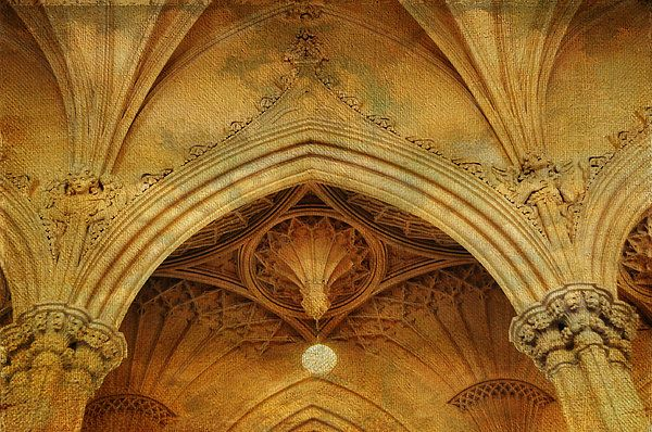 Detail Of Interior Of Gothic Revival Chapel. Streets Of Dublin. Gothic Collection by Jenny Rainbow .  Beautiful details of the interior of the Gothic chapel in Dublin. Textured work for artsy appearance. Available as wood, metallic, acrylic prints and canvas in different sizes.  Fine art for home and other interiors to make your space special.  Tags:  Jenny Rainbow Fine Art Photography  Ireland, Dublin, Gothic Revival Chapel, Gothic architecture,home decor,wall art, art for home