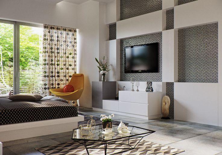 Modern Bedroom Design with Pattern Decor