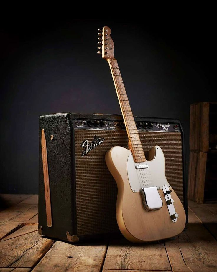 Vintage Fender Telecaster and Vibroverb  amp