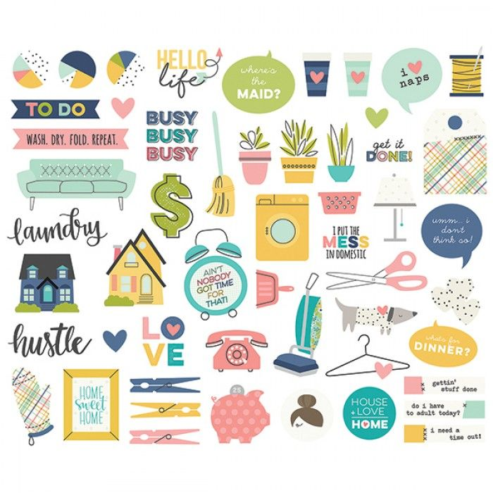 Simple Stories - Domestic Bliss - Bits & Pieces Die-Cuts