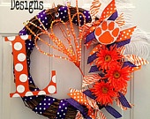 Not my colors, but I know a few Tigers I would sacrific for... :)Orange Colors, Mom Gift, Football Seasons, Tigers Team, Team Gift, Team Spirit, Clemson Wreaths, Clemson Tigers, Spirit Wreaths