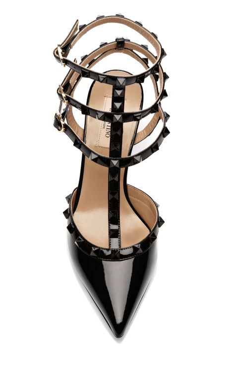 Valentino; it's like adding edge to your feet. Sleek and sexy, who wouldn't like?