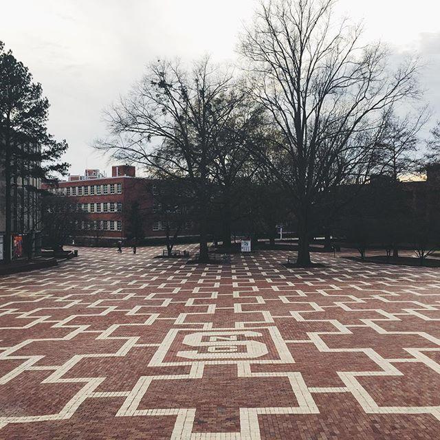 The Brickyard in between classes.