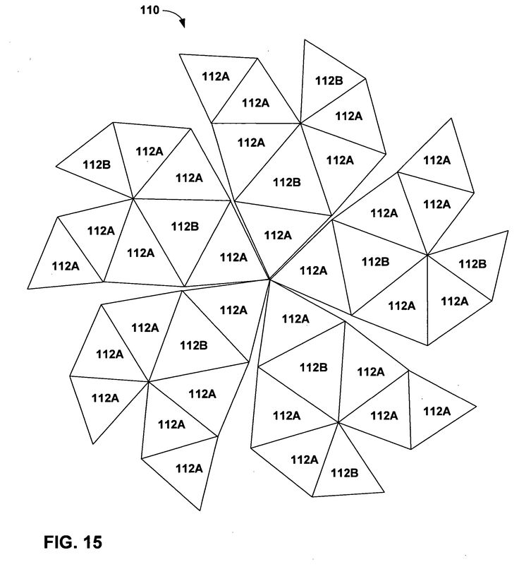Patent us20050022461 constructing geodesic domes with for Geodesic dome template