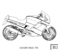 B11 Ducati Paso 750 (Click on this image to see it larger in a new window)