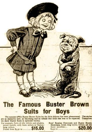 Life in the Old Days- buster brown suit for boys- 1890s   Style ...