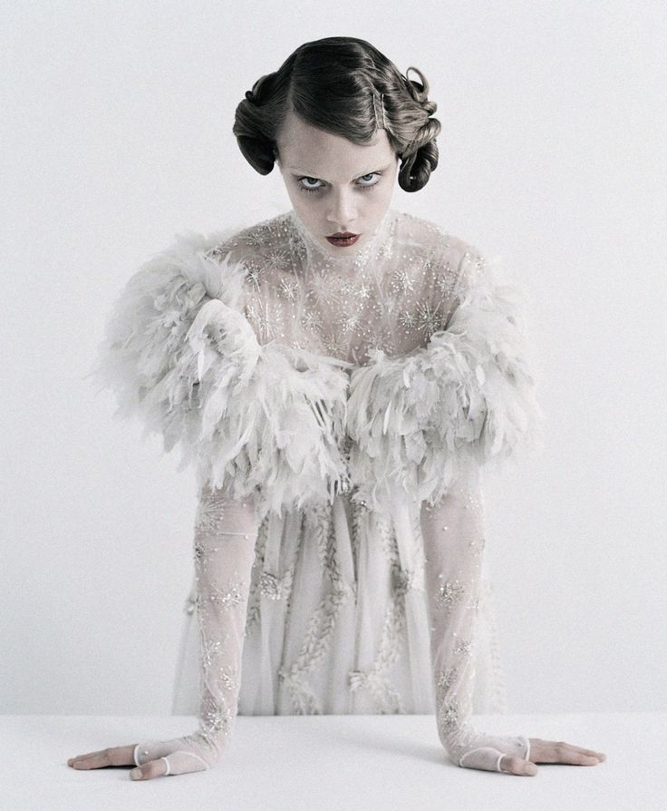 Cara Delevingne wearing Chanel Haute Couture S/S 2013 in 'Couture's Outre Attitude' shot by Tim Walker for W April 2013