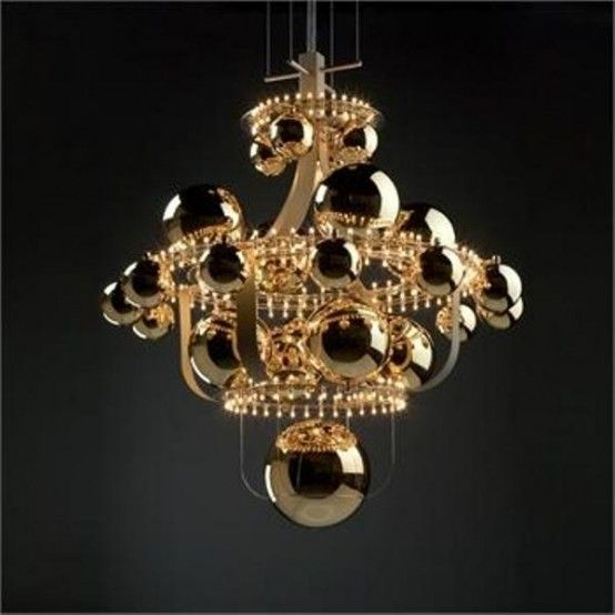 unique chandelier lighting. unique chandelier reminding of the solar system lighting