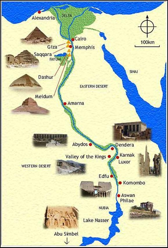 Map of Egypt | En esta epoca los egipcios se vieron en la necesidad de contar los ...
