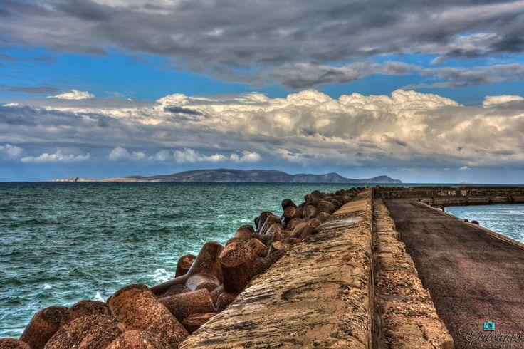 The islet seems like a dragon...  Heraklion port - Koules castle - Crete