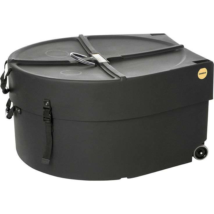 HARDCASE Marching Bass Drum Case with Wheels 28 in.