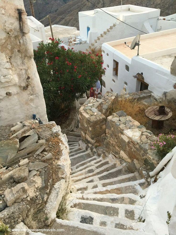 Walking around the Chora of Serifos.