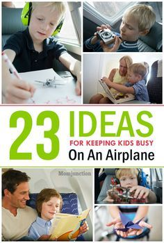 23 Ways To Entertain Your Kid On A Plane: Here are few tips to entertain your kids on an airplane. At the same time mark the stuff that you might not want to send off with check-in baggage