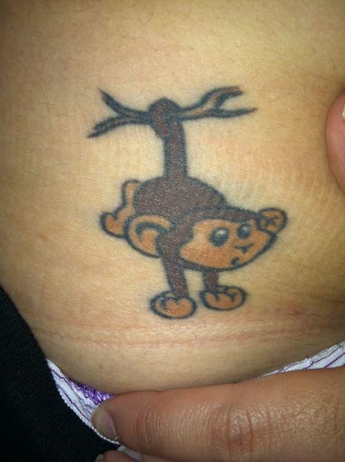 Best 25 monkey tattoos ideas on pinterest chain tattoo for Baby monkey tattoos