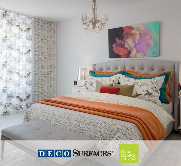 On aime les couleurs daccent dans cette chambre à coucher blanche qui nous permettent