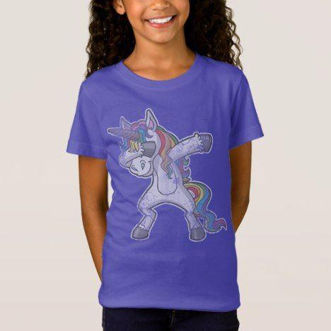 Cute Dabbing Unicorn T-Shirt #rainbow #kids #clothing