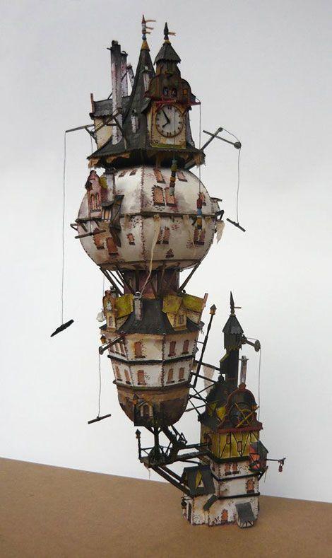 中世的ファンタジー世界。スチームパンク感溢れるジオラマ作品に好奇心をくすぐられる
