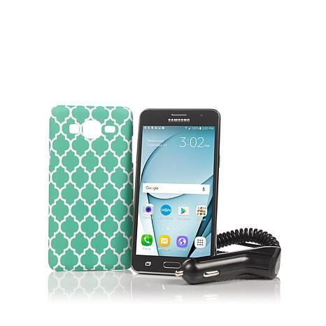 "Samsung Galaxy On5 Android TracFone with 5"" Screen, Car Charger, Case, App Pack - 8231986 
