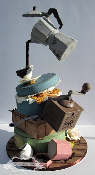 Creative anti-gravity cake idea.
