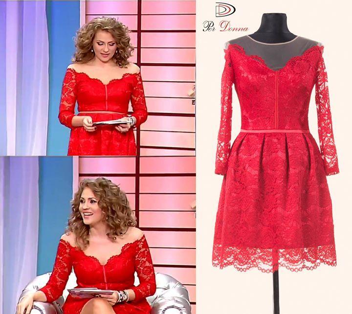 Frumoasa prezentatoare Mirela poarta o rochie Per Donna in cadrul emisiunii Mireasa Pentru Fiul Meu! Gasiti rochia aici: http://goo.gl/m56D1z #rochiideseara #perdonna www.perdonna.ro