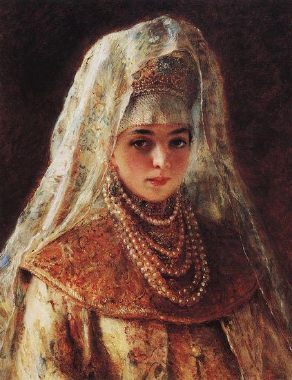 makovskiy-11.jpg (423×550)  васнецов боярышня
