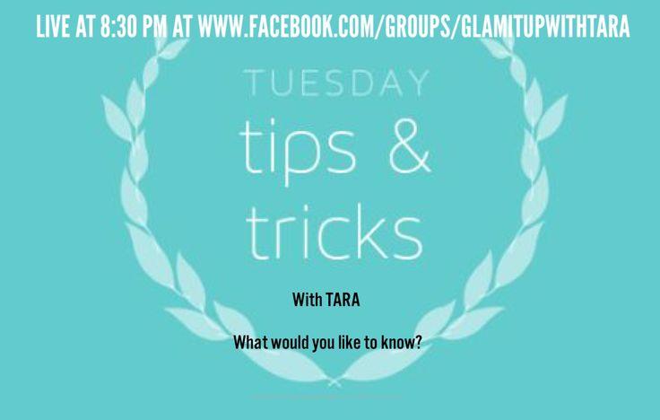 FB Group:glamitupwithtara LIVE Tues/Thurs@ 8:30@lacroix @TitosVodka @enjoyLaCroix @LisaVanderpump @lisarinna @KyleRichards #tips&tricks