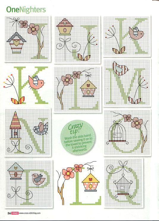Bird house Alphabet  Gallery.ru / Фото #34 - Cross Stitch Crazy 159 январь 2011…