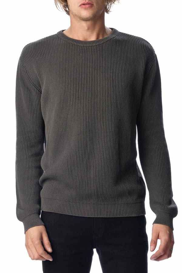 ROLLAS - Worn Rib Knit Charcoal