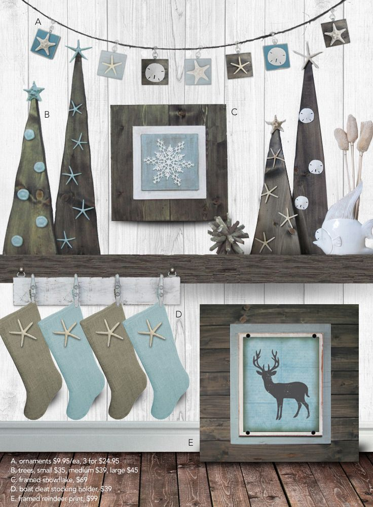 Coastal Christmas Collection - The Project Cottage - Check out our Coastal Christmas Collection to bring a beachy feeling to your Holiday festivities! Our collection includes ornaments, wood trees, framed prints and stocking holders. #coastalchristmas #coastalholiday #coastalchristmasdecor