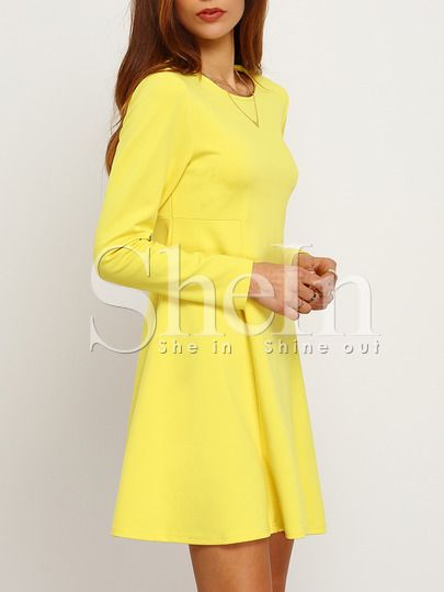 Ber ideen zu gelbes kleid auf pinterest for Shein frauen mode