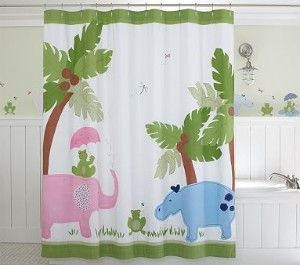 Attractive Taylor Shower Curtain | Pottery Barn Kids