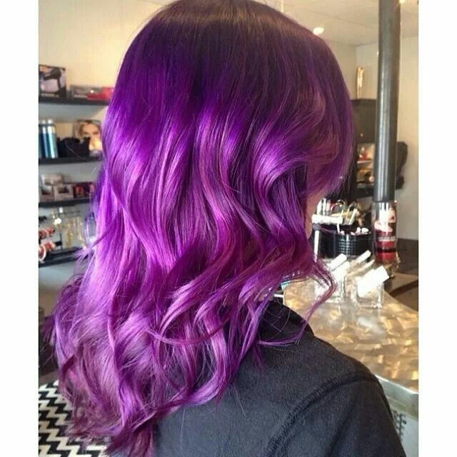 Smoky Purple using Pravana - Hair Color | Hair styles ...