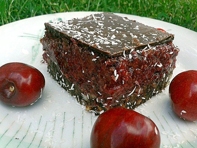 Nyers cseresznyés brownie