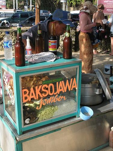 """Kaki Lima (""""five feet"""") - roadside food ( a mobile food stall)"""