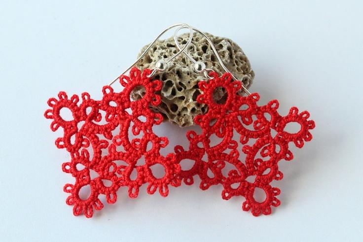 Simple red earrings. $15.00, via Etsy.