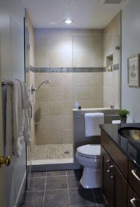decorating small bathroom with half walls