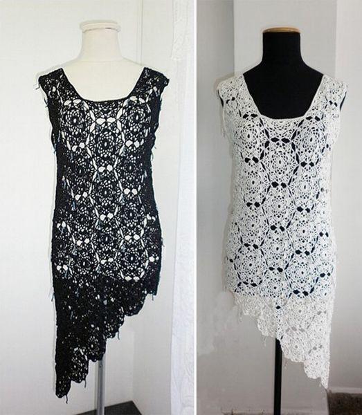 2e0421621a89 Vestidos de fiesta tejidos a crochet patrones - Imagui   TEJIDOS ...